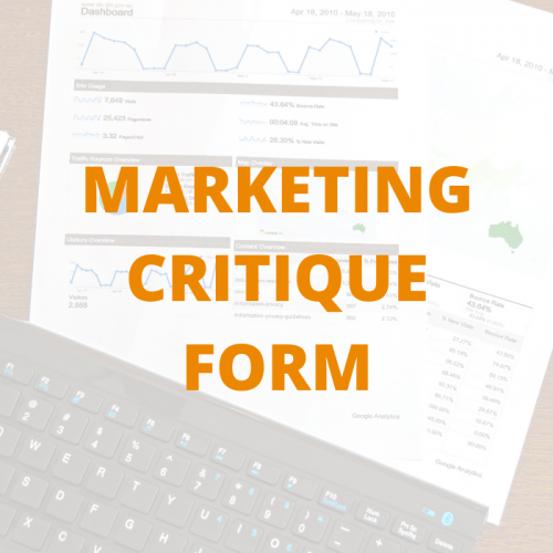 MARKETING CRITIQUE FORM