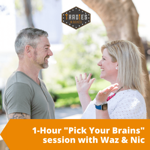 "1 hour ""pick your brains"" with Waz and Nic"