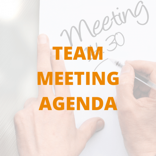 TEAM MEETING AGENDA